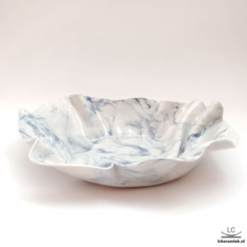 porseleinen schaal blauw gemarmerd