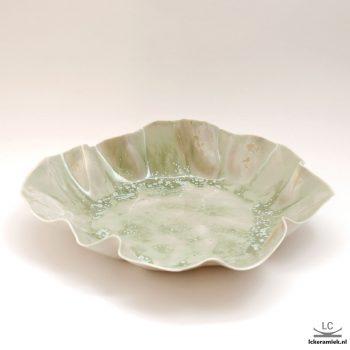 Platte Porseleinen Schaal Groen