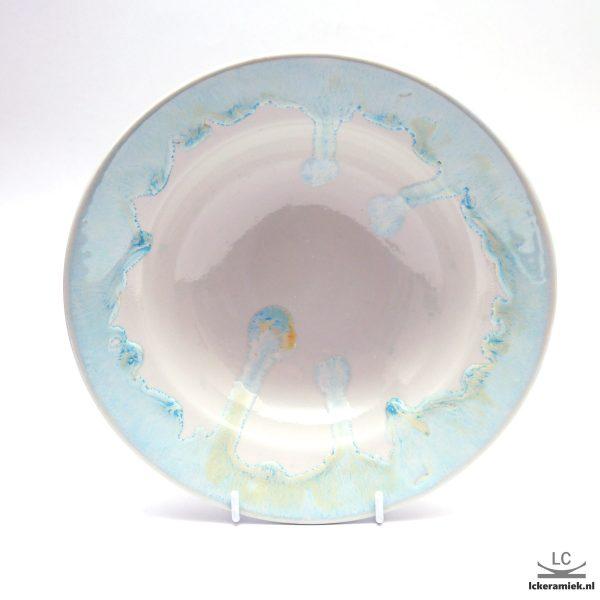 Porseleinen pastabord blauw wit