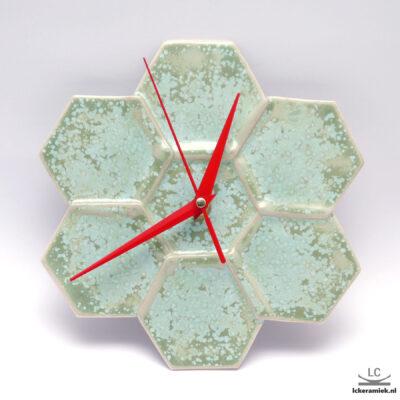 wandklok hexa groen