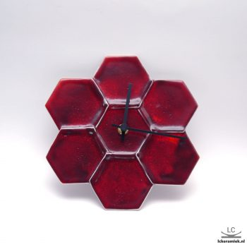 wandklok hexa rood