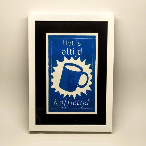 Linoprint koffietijd