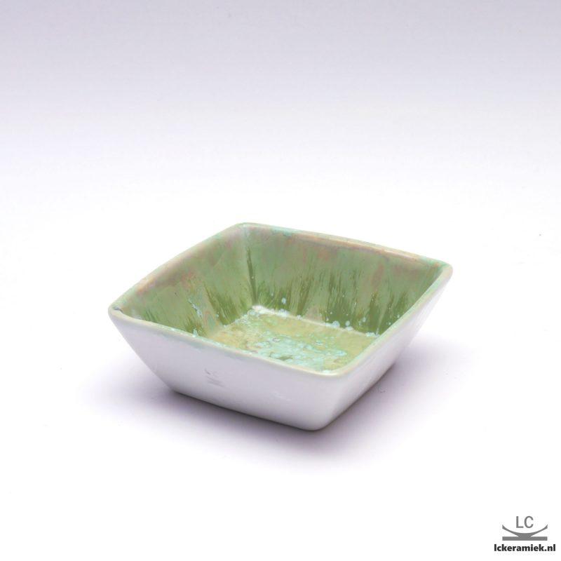 porseleinen schaaltje groen wit