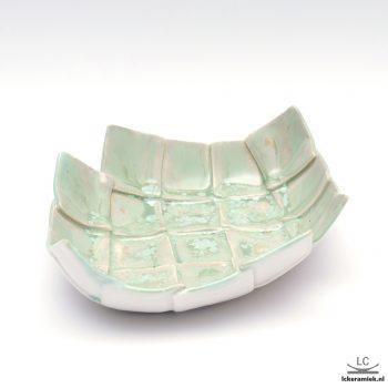 groene porseleinen schaal ovaal