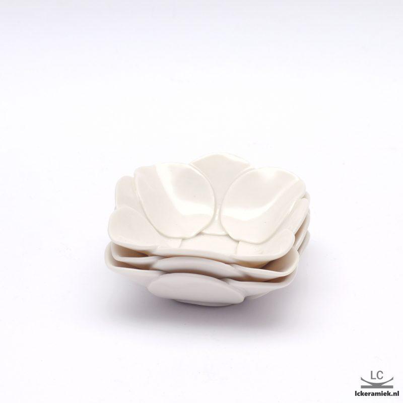 witte porseleinen tapas/amuse schaaltjes