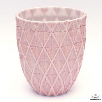 porseleinen vaas diamond roze