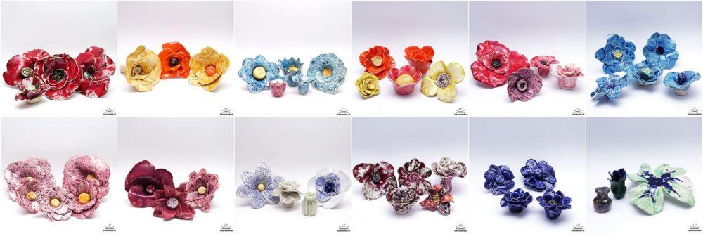 resultaten workshop bloem van keramiek