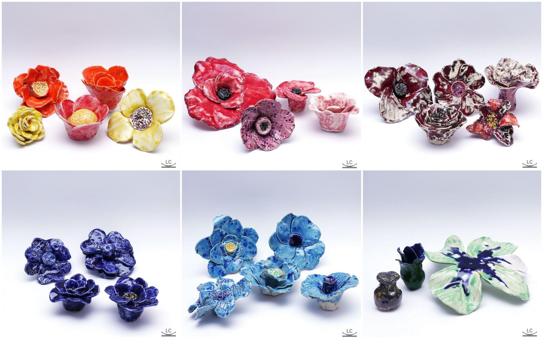 resultaat workshop bloem van keramiek