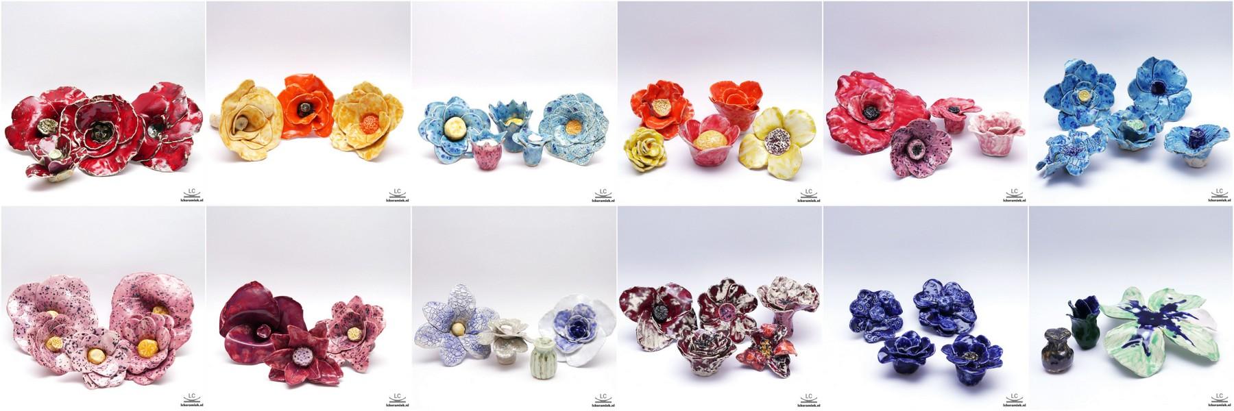 bloem van keramiek