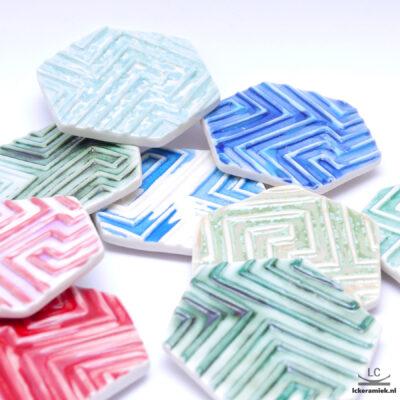 Porseleinen onderzetter voor zeepjes